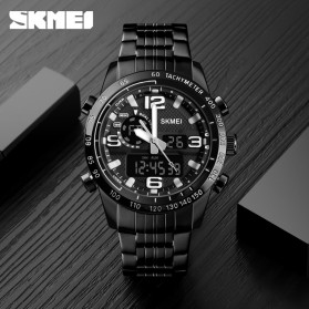 SKMEI Jam Tangan Digital Analog Pria - 1453 - Black - 5