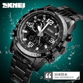 SKMEI Jam Tangan Digital Analog Pria - 1453 - Black - 6