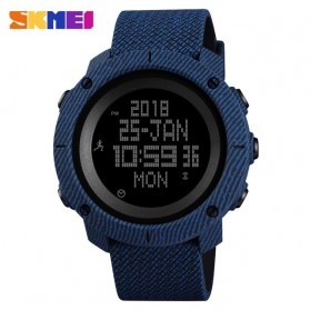 SKMEI Jam Tangan Digital Pria Pedometer Compass - 1430 - Blue