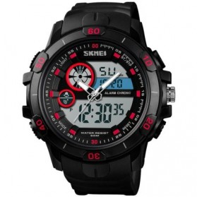 SKMEI Jam Tangan Kasual Digital Analog Pria - 1428 - Black/Red - 1