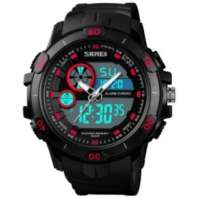 SKMEI Jam Tangan Kasual Digital Analog Pria - 1428 - Black/Red - 2