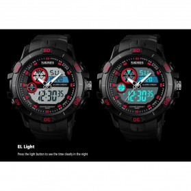 SKMEI Jam Tangan Kasual Digital Analog Pria - 1428 - Black/Red - 4