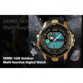 SKMEI Jam Tangan Kasual Digital Analog Pria - 1428 - Black/Red - 6