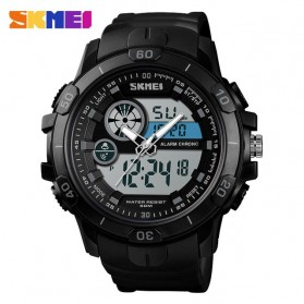 SKMEI Jam Tangan Kasual Digital Analog Pria - 1428 - Black
