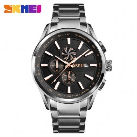 SKMEI Jam Tangan Analog Pria Strap Stainless Steel - 9175 - Rose Gold