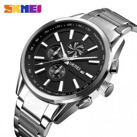 SKMEI Jam Tangan Analog Pria Strap Stainless Steel - 9175 - Black - 2