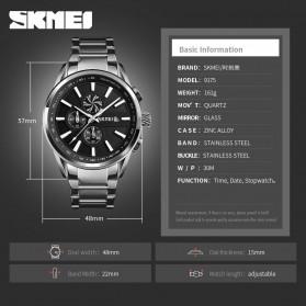 SKMEI Jam Tangan Analog Pria Strap Stainless Steel - 9175 - Black - 6
