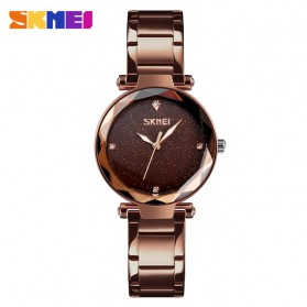 SKMEI Jam Tangan Analog Wanita - 9180 - Coffee/Gold