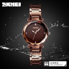 SKMEI Jam Tangan Analog Wanita - 9180 - Coffee/Gold - 4