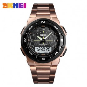 SKMEI Jam Tangan Digital Analog Sporty Pria - 1370 - Rose Gold