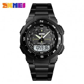 SKMEI Jam Tangan Digital Analog Sporty Pria - 1370 - Black White