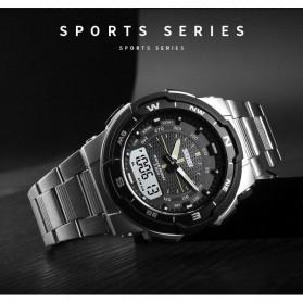SKMEI Jam Tangan Digital Analog Sporty Pria - 1370 - Black White - 4