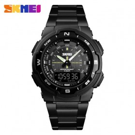 SKMEI Jam Tangan Digital Analog Sporty Pria - 1370 - Black/Black