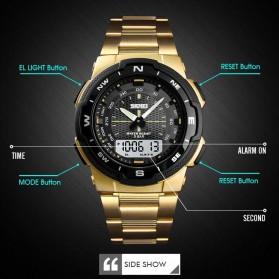 SKMEI Jam Tangan Digital Analog Sporty Pria - 1370 - Black/Black - 3