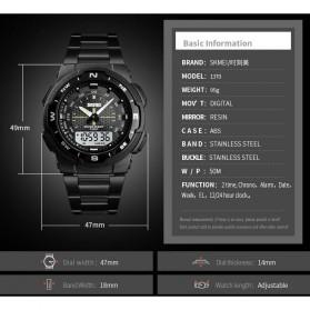 SKMEI Jam Tangan Digital Analog Sporty Pria - 1370 - Black/Black - 6