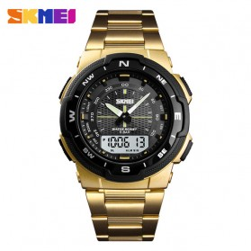 SKMEI Jam Tangan Digital Analog Sporty Pria - 1370 - Golden