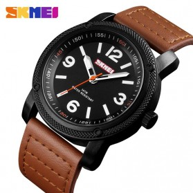 SKMEI Jam Tangan Kasual Analog Pria - 1417 - Coffee - 1