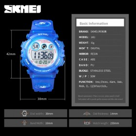 SKMEI Kids Jam Tangan Sporty Anak - 1451 - Light Blue - 7