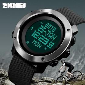 SKMEI Jam Tangan Digital Pria Pedometer Compass - 1431 - Black - 2