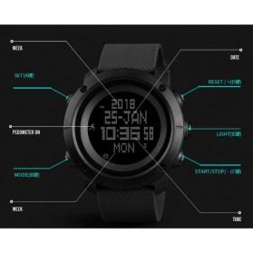 SKMEI Jam Tangan Digital Pria Pedometer Compass - 1431 - Black - 5