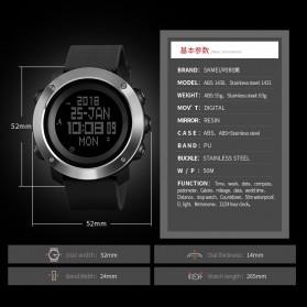 SKMEI Jam Tangan Digital Pria Pedometer Compass - 1431 - Black - 6