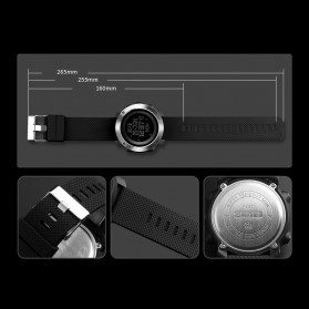 SKMEI Jam Tangan Digital Pria Pedometer Compass - 1431 - Black - 7