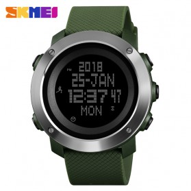 SKMEI Jam Tangan Digital Pria Pedometer Compass - 1431 - Green