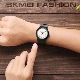SKMEI Jam Tangan Analog Sporty Wanita - 1449 - Black with White Side - 6