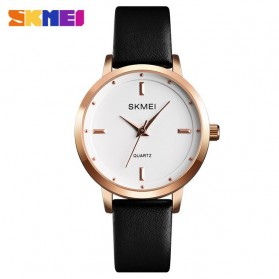 SKMEI Jam Tangan Analog Dress Wanita - 1457 - Black with White Side