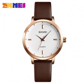 SKMEI Jam Tangan Analog Dress Wanita - 1457 - Brown/White - 1