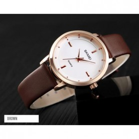 SKMEI Jam Tangan Analog Dress Wanita - 1457 - Brown/White - 2