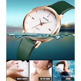 SKMEI Jam Tangan Analog Dress Wanita - 1457 - Brown/White - 4
