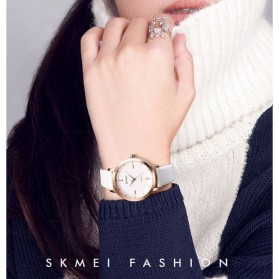 SKMEI Jam Tangan Analog Dress Wanita - 1457 - Brown/White - 6
