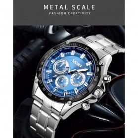 SKMEI Jam Tangan Analog Quartz Pria - 1366 - Black Blue - 3