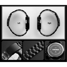 SKMEI Jam Tangan Analog Quartz Pria - 1366 - Black Blue - 5