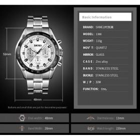 SKMEI Jam Tangan Analog Quartz Pria - 1366 - Silver Black - 4