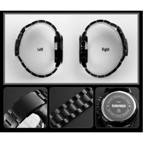 SKMEI Jam Tangan Analog Quartz Pria - 1366 - Silver Black - 5