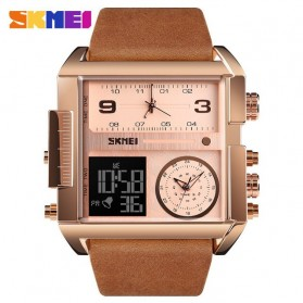 SKMEI Vogue Jam Tangan Digital Analog Pria - 1391 - Rose Gold