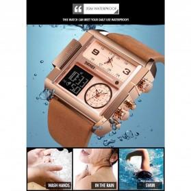 SKMEI Vogue Jam Tangan Digital Analog Pria - 1391 - Black/Brown - 6