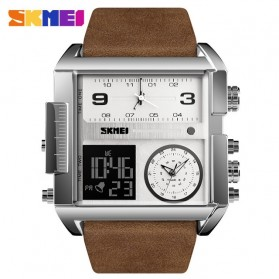 SKMEI Vogue Jam Tangan Digital Analog Pria - 1391 - Coffee/Silver