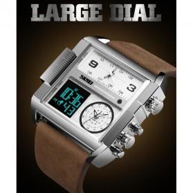 SKMEI Vogue Jam Tangan Digital Analog Pria - 1391 - Coffee/Silver - 4