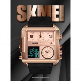 SKMEI Vogue Jam Tangan Digital Analog Pria - 1391 - Coffee/Silver - 8