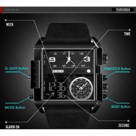 SKMEI Vogue Jam Tangan Digital Analog Pria - 1391 - Black/Coffee - 5