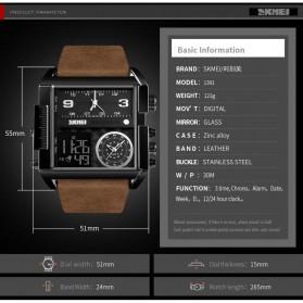 SKMEI Vogue Jam Tangan Digital Analog Pria - 1391 - Black/Coffee - 7