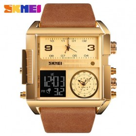 SKMEI Vogue Jam Tangan Digital Analog Pria - 1391 - Golden