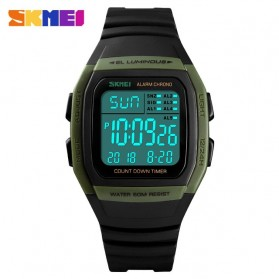 SKMEI Jam Tangan Digital Pria - 1278 - Army Green