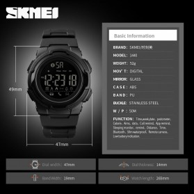 SKMEI Jam Tangan Olahraga Smartwatch Bluetooth - 1440 - Black - 6