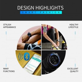 SKMEI Jam Tangan Olahraga Smartwatch Bluetooth - 1440 - Black - 7