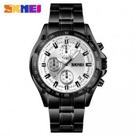 SKMEI Jam Tangan Analog Pria Strap Stainless Steel - 1393 - Black/Silver