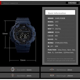 SKMEI Jam Tangan Digital Outdoor Pria - 1472 - Gray - 2